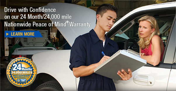 Drive with Confidence on our 24 Month/24,000 mile Nationwide Peace of Mind Warranty. Learn more
